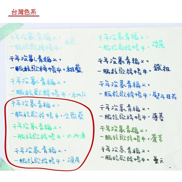 藍濃道具屋 Lennon Tool Bar-台灣色系墨水 2