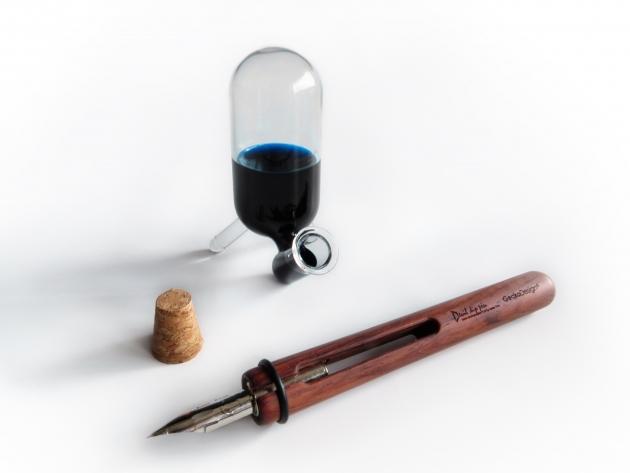 GeckoDesign 和諧之筆 x 默契墨水瓶(長) 手工製文具組 1