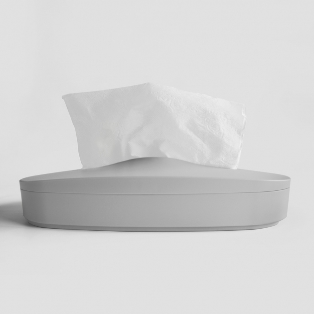 Flexible Tissue Box - Cream Gray 1