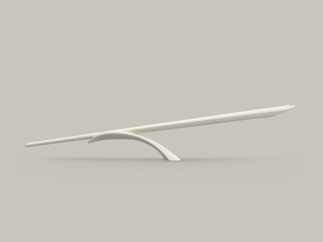 Balanced Chopsticks Rest - Simple beige 1