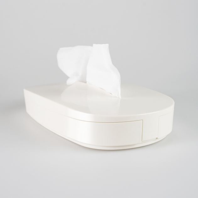 Flexible Tissue Box - Vanilla White 2
