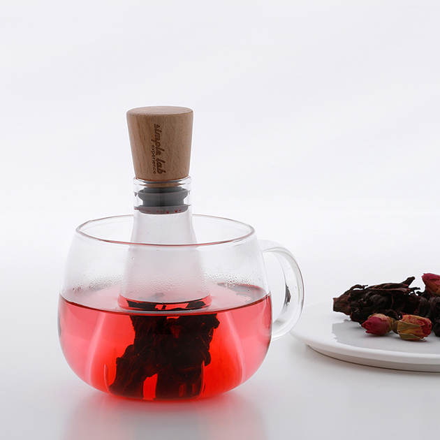 simple lab FLASK+ 燒瓶泡茶器 2