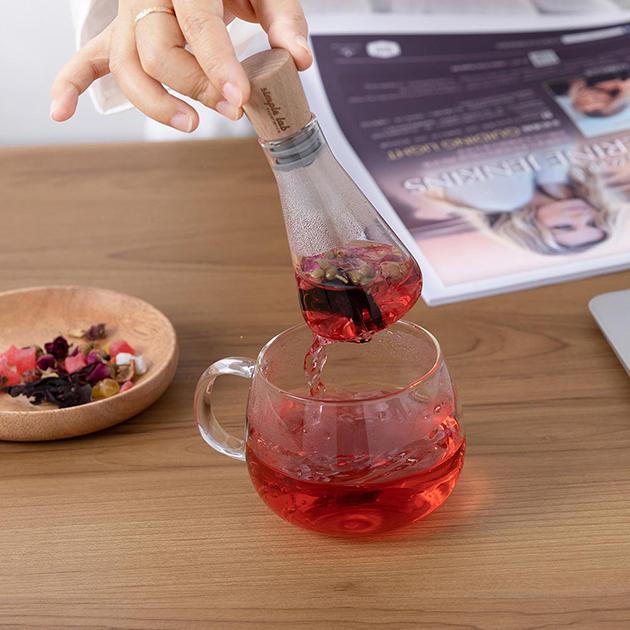 simple lab FLASK+ 燒瓶泡茶器 5