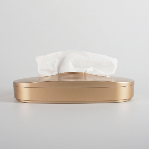 Flexible Tissue Box - Luxury Gold 1