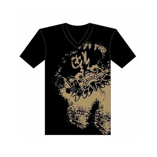 Sword-Lion In Tainan Anping T-shirt (Unisex) - Black/White 1