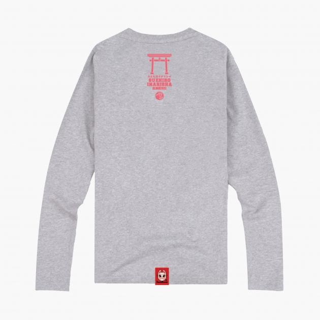 林百貨日本稻荷神社流行長T (男女版) 灰/黃 2