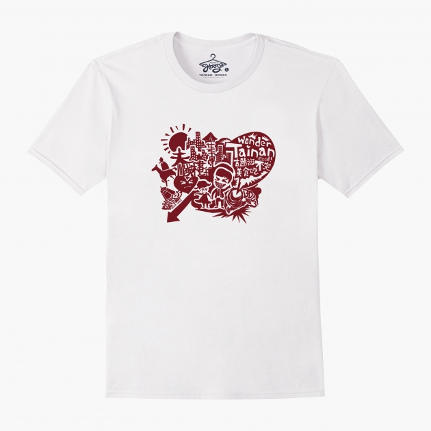 I Love Tainan T-shirt (Unisex & Child) - White 1