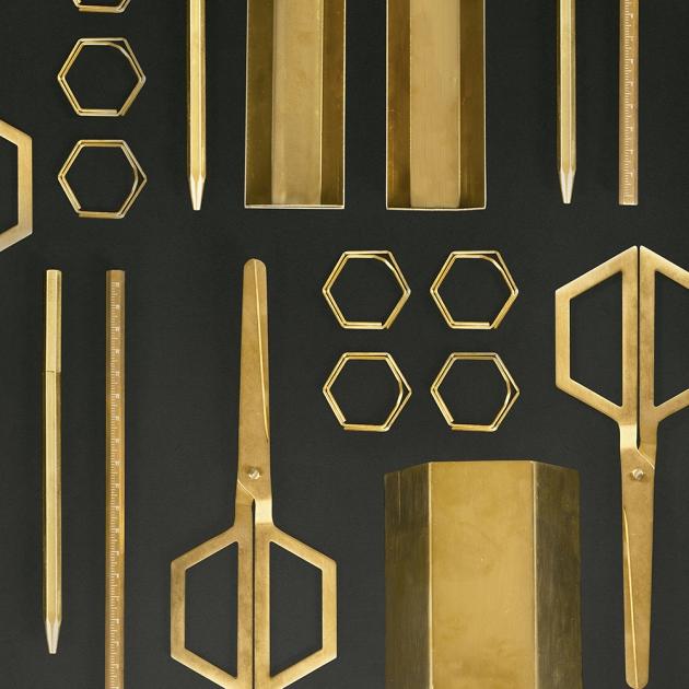 DOIY 六角黃銅系列文具-筆筒 2