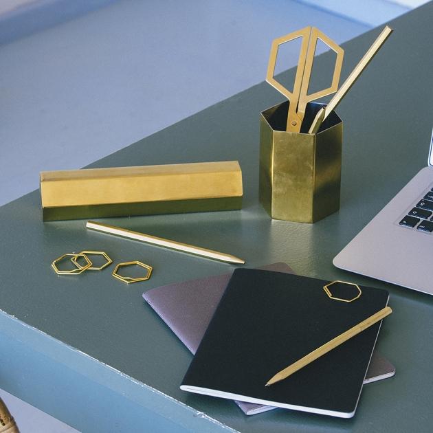 DOIY 六角黃銅系列文具-筆筒 3