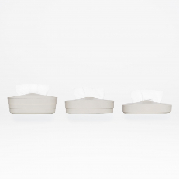 Flexible Tissue Box - Cream Gray 4