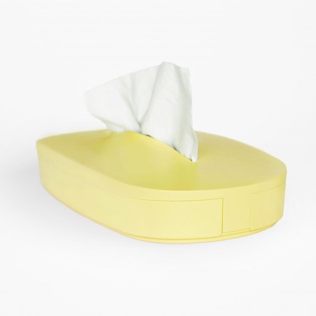 Flexible Tissue Box - Primrose Yellow 2