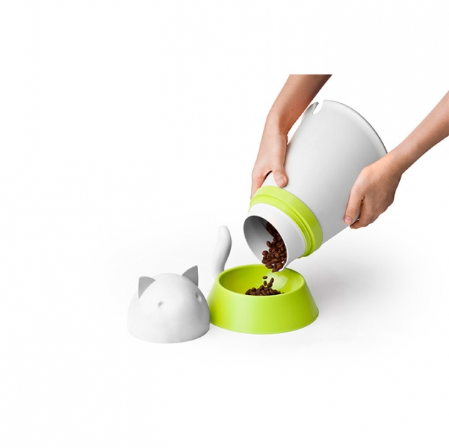 QUALY 凱喵-附碗飼料筒 (2色) 6