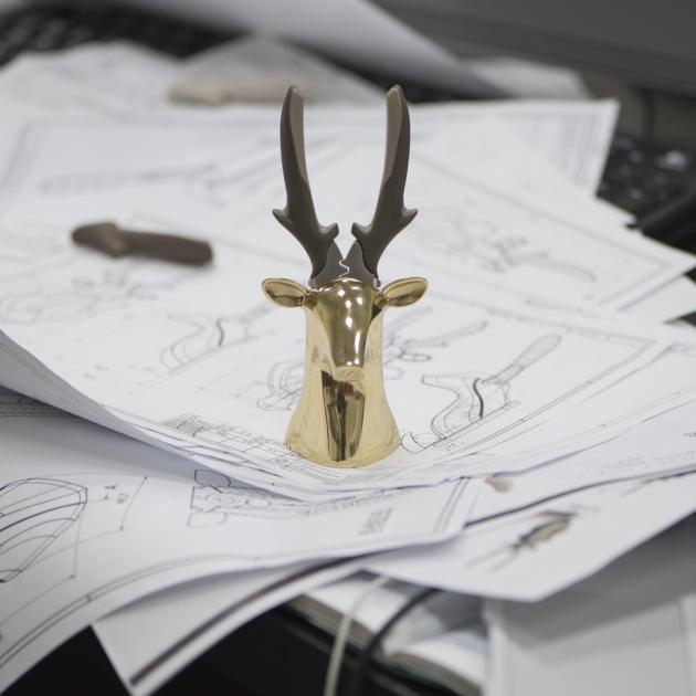 iThinking Dear deer II 座款 尖嘴鉗-亮面金 5
