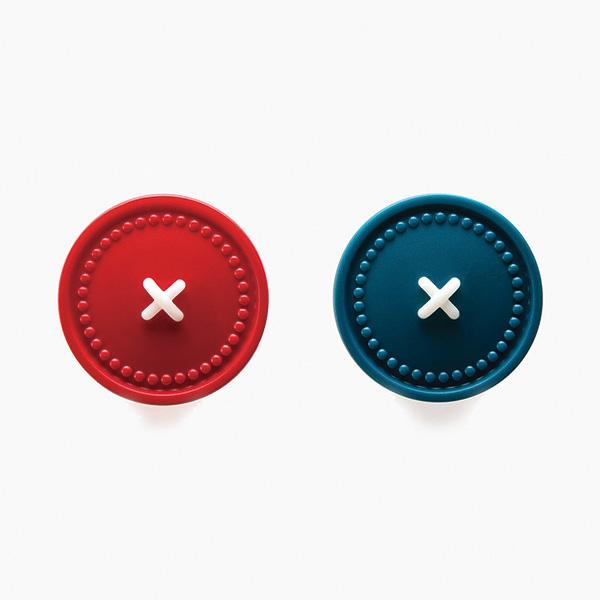 OTOTO 小鈕扣掛勾 (紅+藍) 1