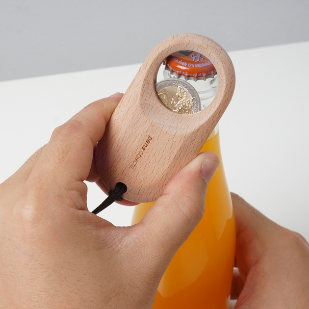 pana objects  零錢開瓶器 (櫸木) 2