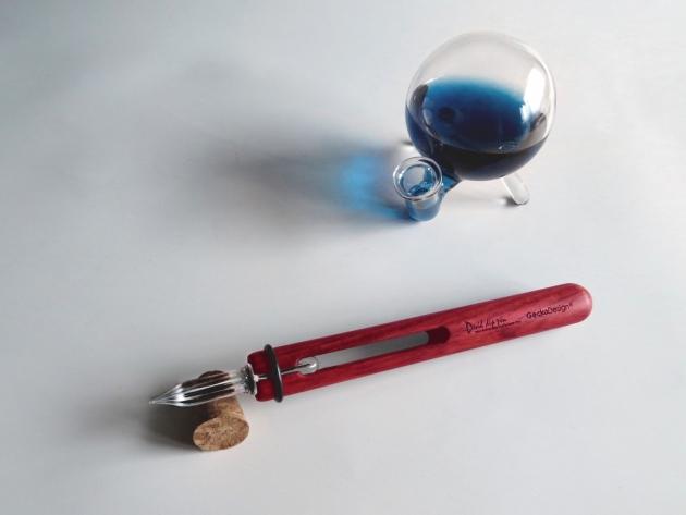 GeckoDesign 和諧之筆 x 默契墨水瓶(圓) 手工製文具組 3