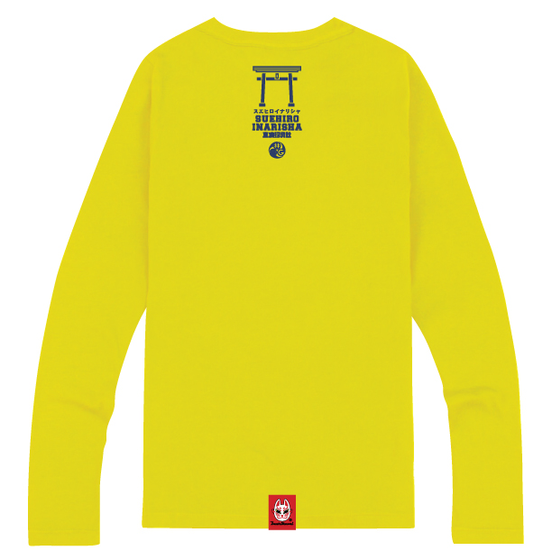 Hayashi Department Store Inari Long - Sleeve T-shirt (Man & Woman) - Gray/Yellow 4